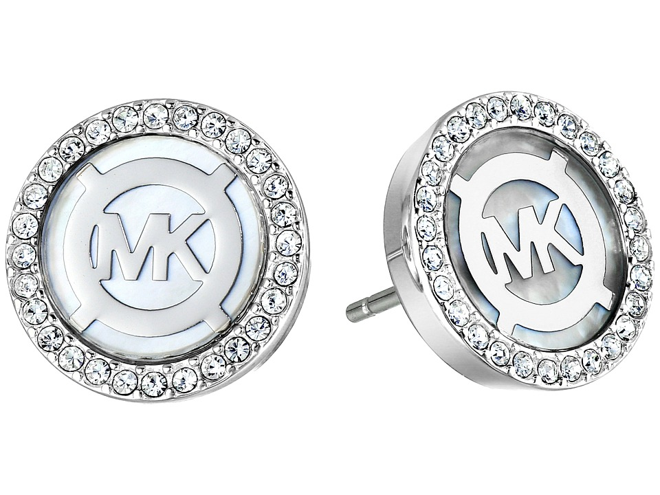 Michael Kors Logo Earrings Silver/Mother of Pearl Earring