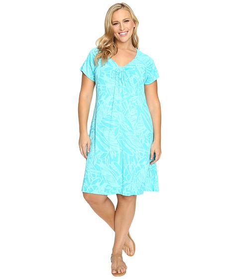 Fresh Produce - Plus Size Cancun Effortless Dress (Luna Turquoise) Women's Dress