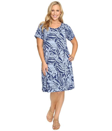 Fresh Produce - Plus Size Cancun Sadie Dress (Moonlight Blue) Women's Dress