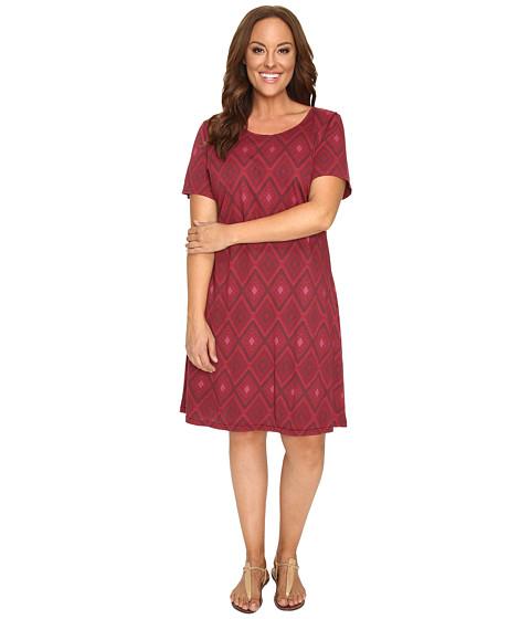 Fresh Produce - Plus Size Diamonds Sadie Dress (Burgundy Red) Women's Dress