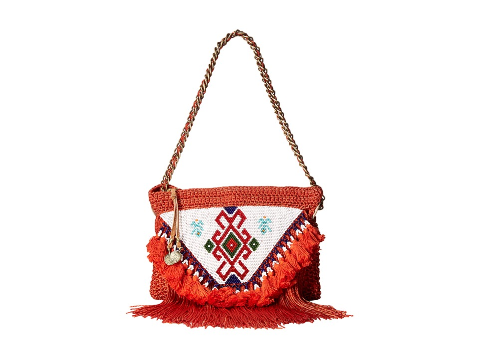 Sam Edelman - Naomi Beaded Crossbody (Orange) Cross Body Handbags
