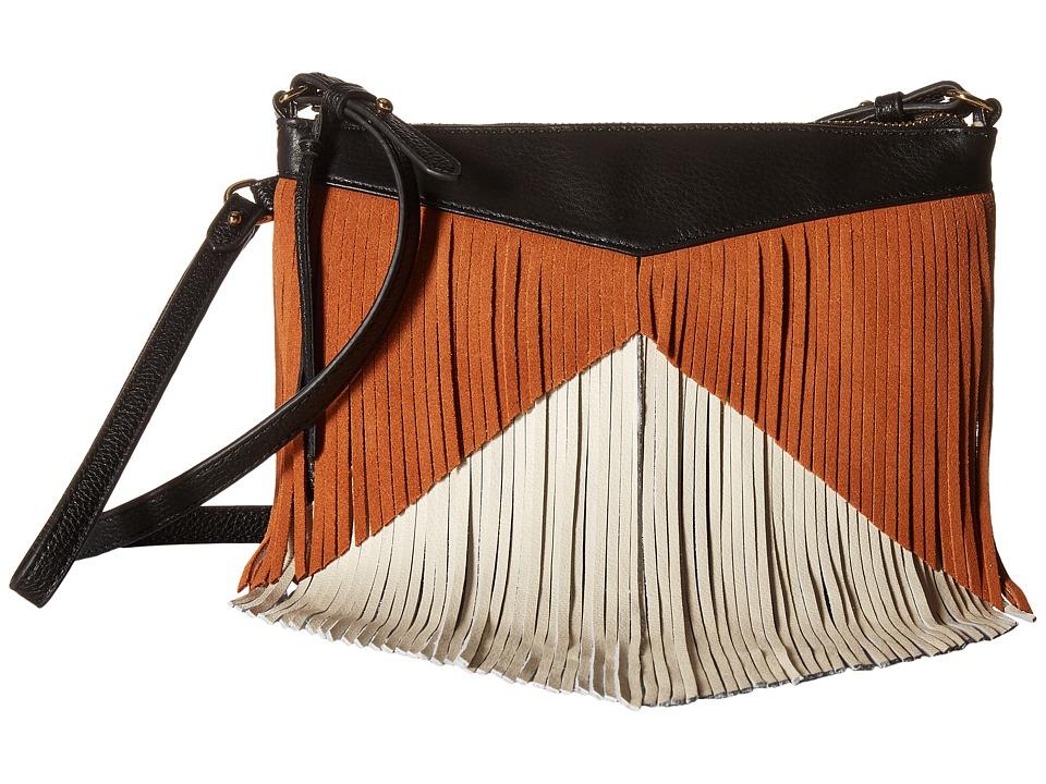 Sam Edelman - Adrianna Fringe Crossbody (Neutral) Cross Body Handbags