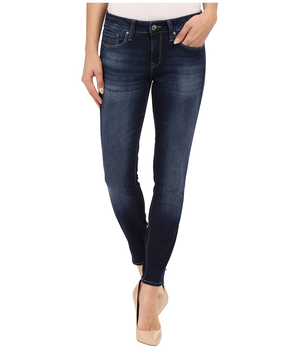 Mavi Jeans Alexa Mid Rise Skinny Ankle Jeans in Dark Brush Shanti Dark Brush Shanti Womens Jeans