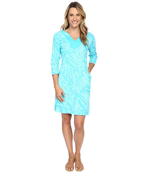 Fresh Produce - Cancun 3/4 Sleeve Notch Dress (Luna) Women's Dress