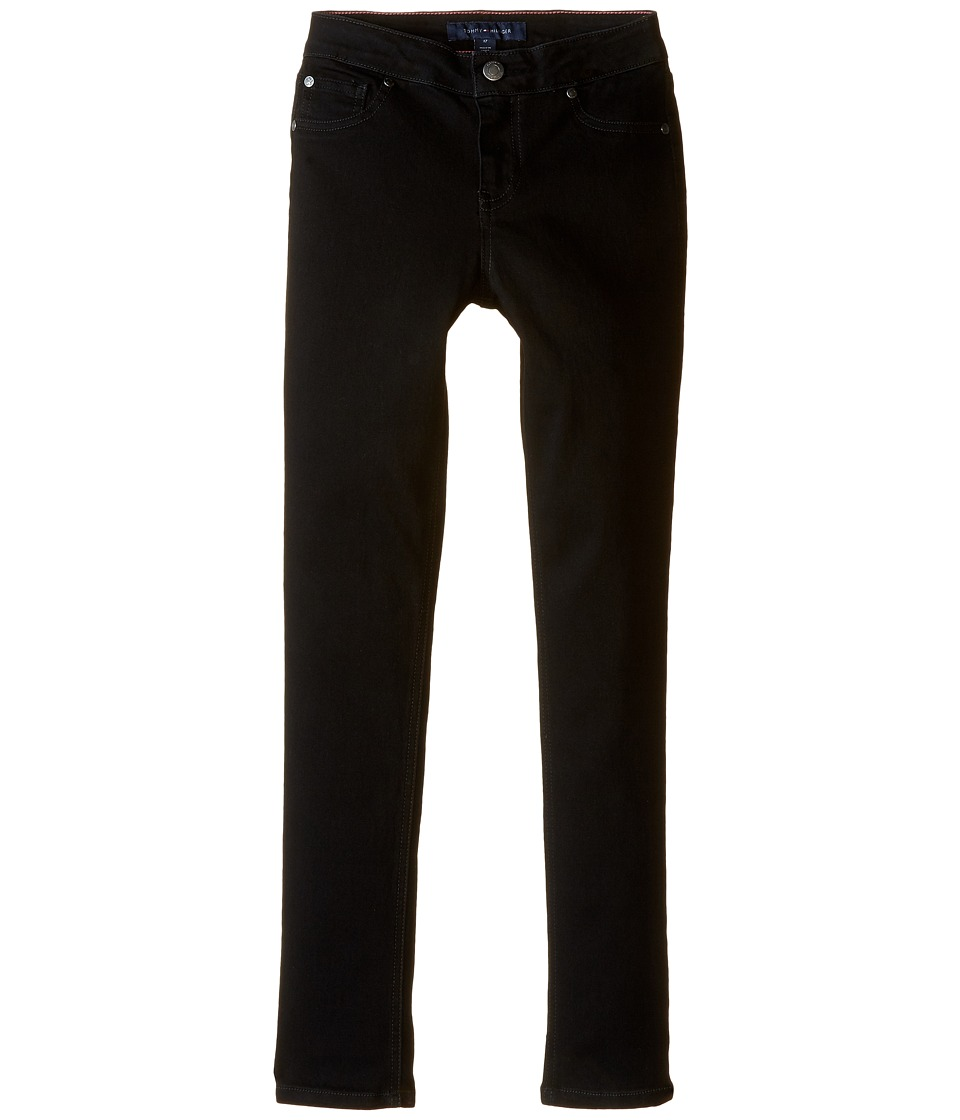 Tommy Hilfiger Kids - Five-Pocket Jeggings in Black (Little Kids/Big Kids) (Black) Girls Jeans