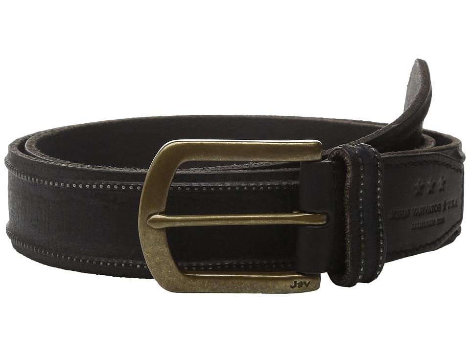 John Varvatos 40mm Studded Edge Belt w/ Harness Buckle (Black) Men