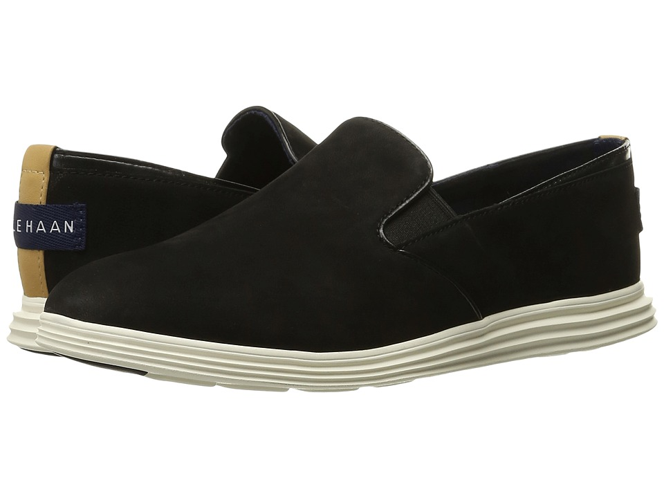 Cole Haan Ella Grand 2 Gore Slip-On (Black Nubuck) Women