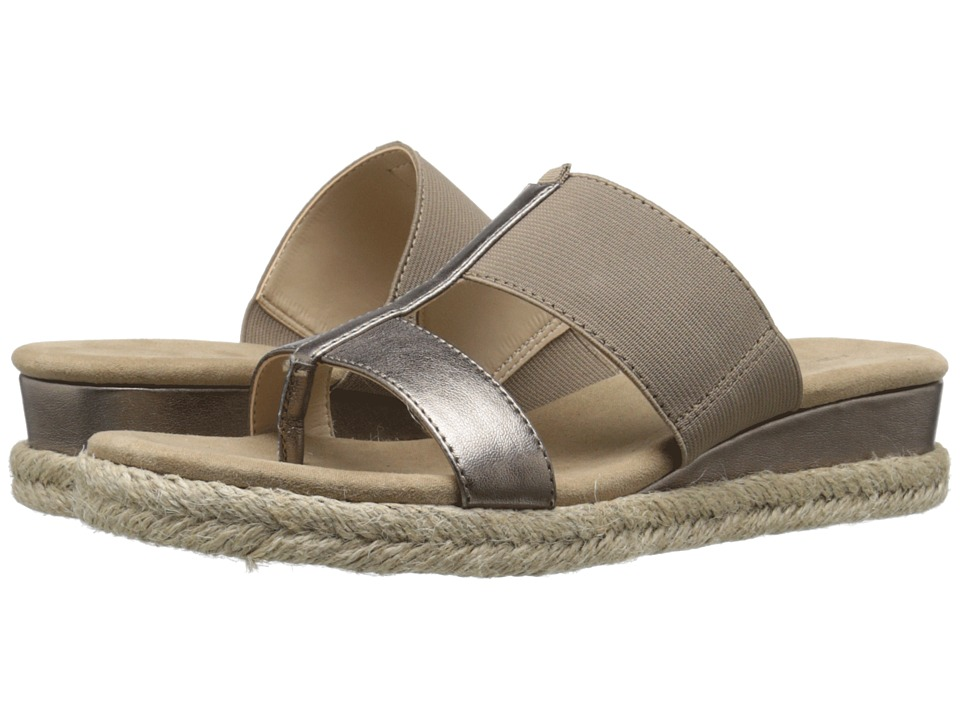 Adrienne Vittadini Codie Champagne Womens Sandals