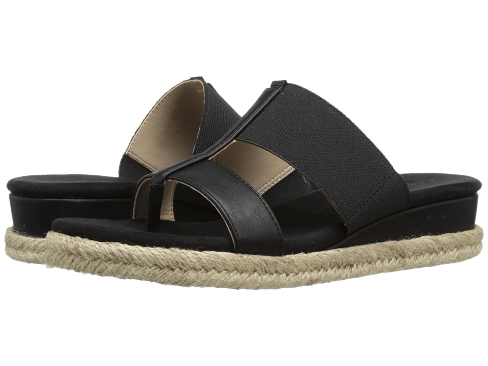 Adrienne Vittadini Codie Black Womens Sandals