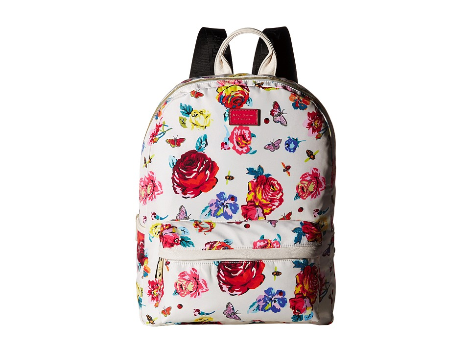 Betsey Johnson - Backpack (White Floral/Floral) Backpack Bags