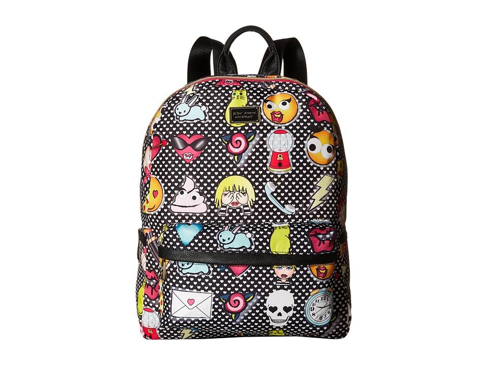Betsey Johnson Backpack Emoji/Black Multi Backpack Bags