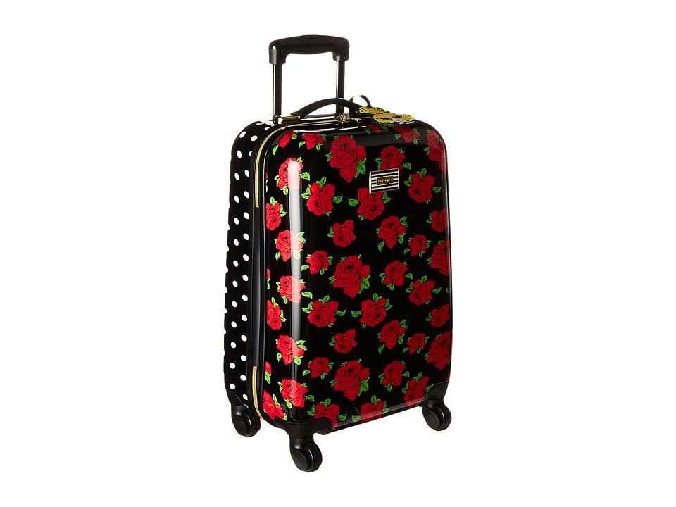Betsey Johnson - Small Carry-On Luggage (Cover Roses/Red) Carry on Luggage