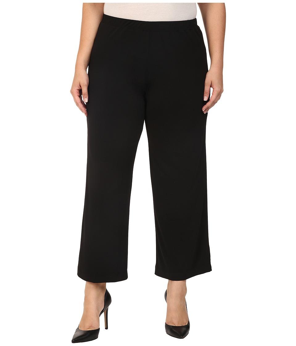 Karen Kane Plus - Plus Size Wide Leg Pull-On Pants (Black) Women's Casual Pants plus size,  plus size fashion plus size appare