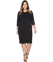 Karen Kane Plus - Plus Size Faux Leather Inset Dress