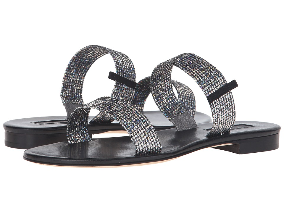 SJP by Sarah Jessica Parker Wallace (Silver Scintillate/Black Nappa) Women