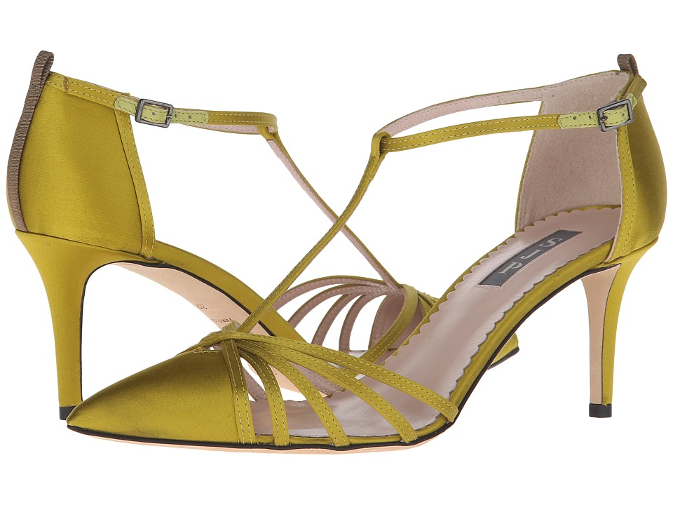 SJP by Sarah Jessica Parker Carrie 70 Rich Chartruese Satin Womens Shoes