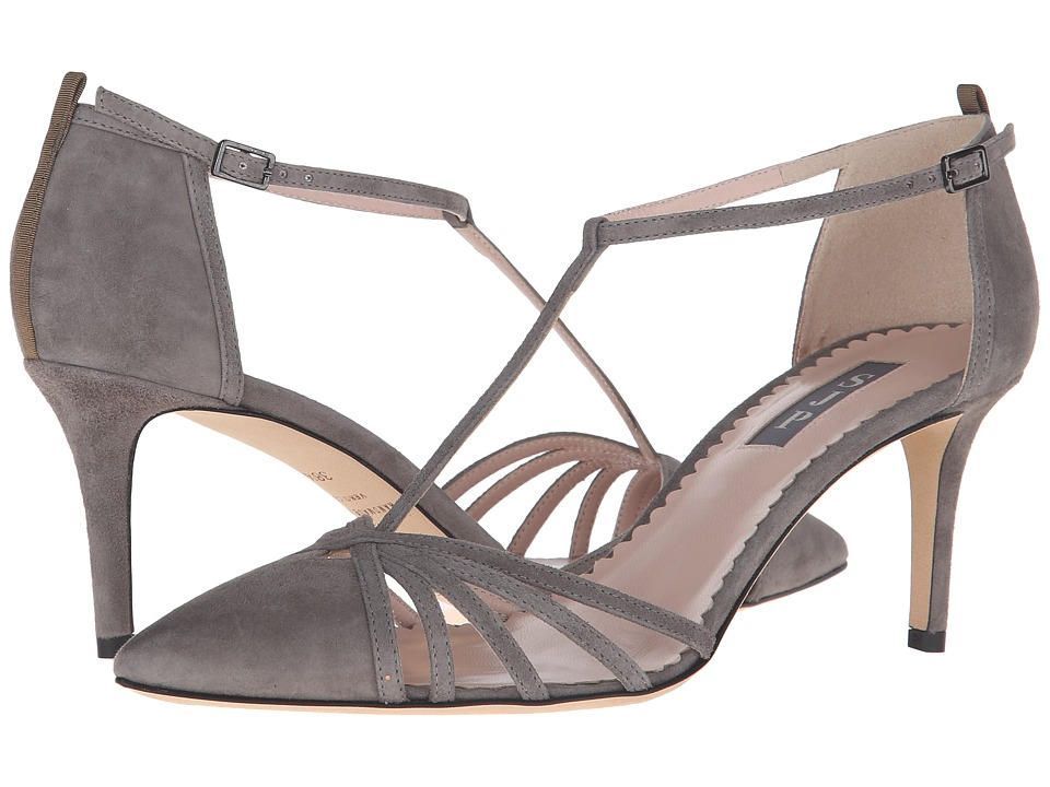SJP by Sarah Jessica Parker Carrie 70 Adara Grey Suede Womens Shoes