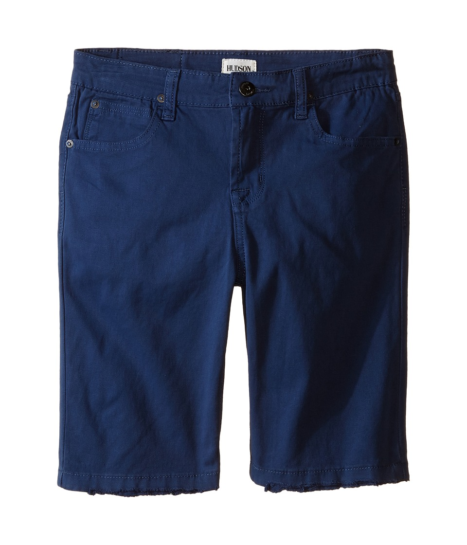 Hudson Kids Stretch Twill Five Pocket Shorts in Treasure Indigo Little Kids Treasure Indigo Boys Shorts