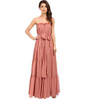JILL JILL STUART - Strapless Crinkle Chiffon Gown w/ Tie at Waist