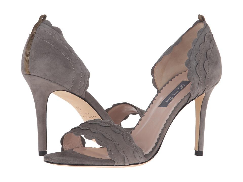 SJP by Sarah Jessica Parker Bobbie Adara Grey Suede Womens Shoes
