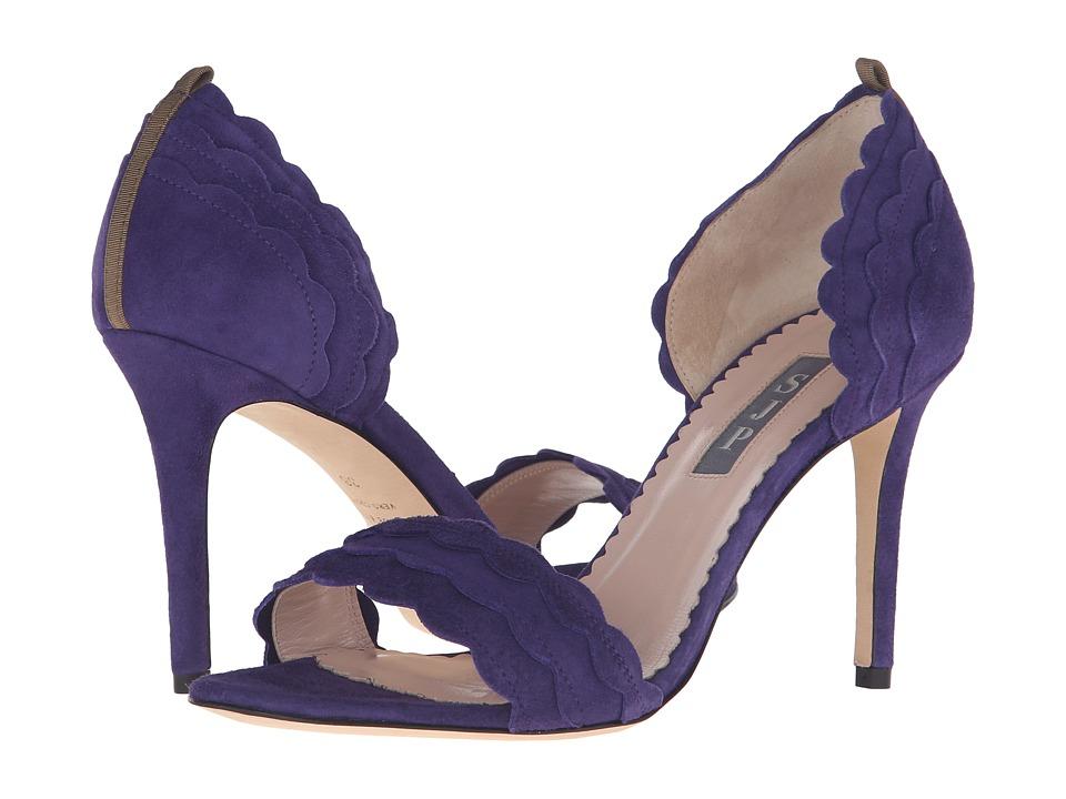SJP by Sarah Jessica Parker Bobbie Prince Purple Suede Womens Shoes