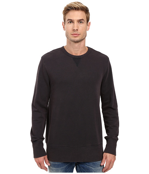 Alternative Weathered Wash Light French Terry Commuter Crew Neck