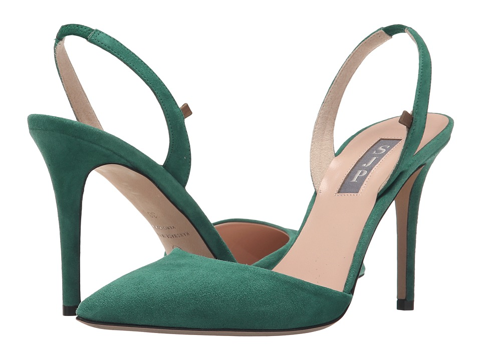 SJP by Sarah Jessica Parker Bliss 90 Masters Green Suede Womens Shoes
