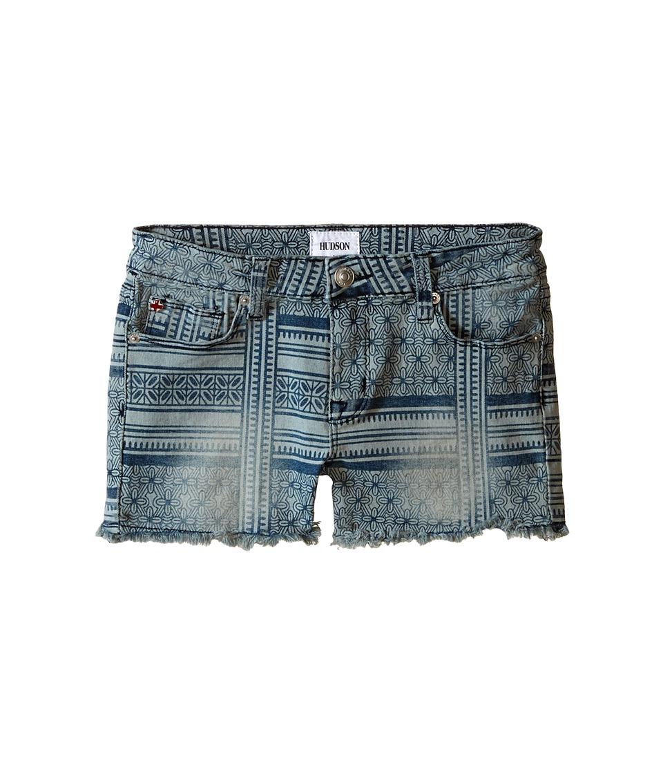 Hudson Kids 2 1/2 Fray Slouch Shorts in Shabori Big Kids Shabori Girls Shorts