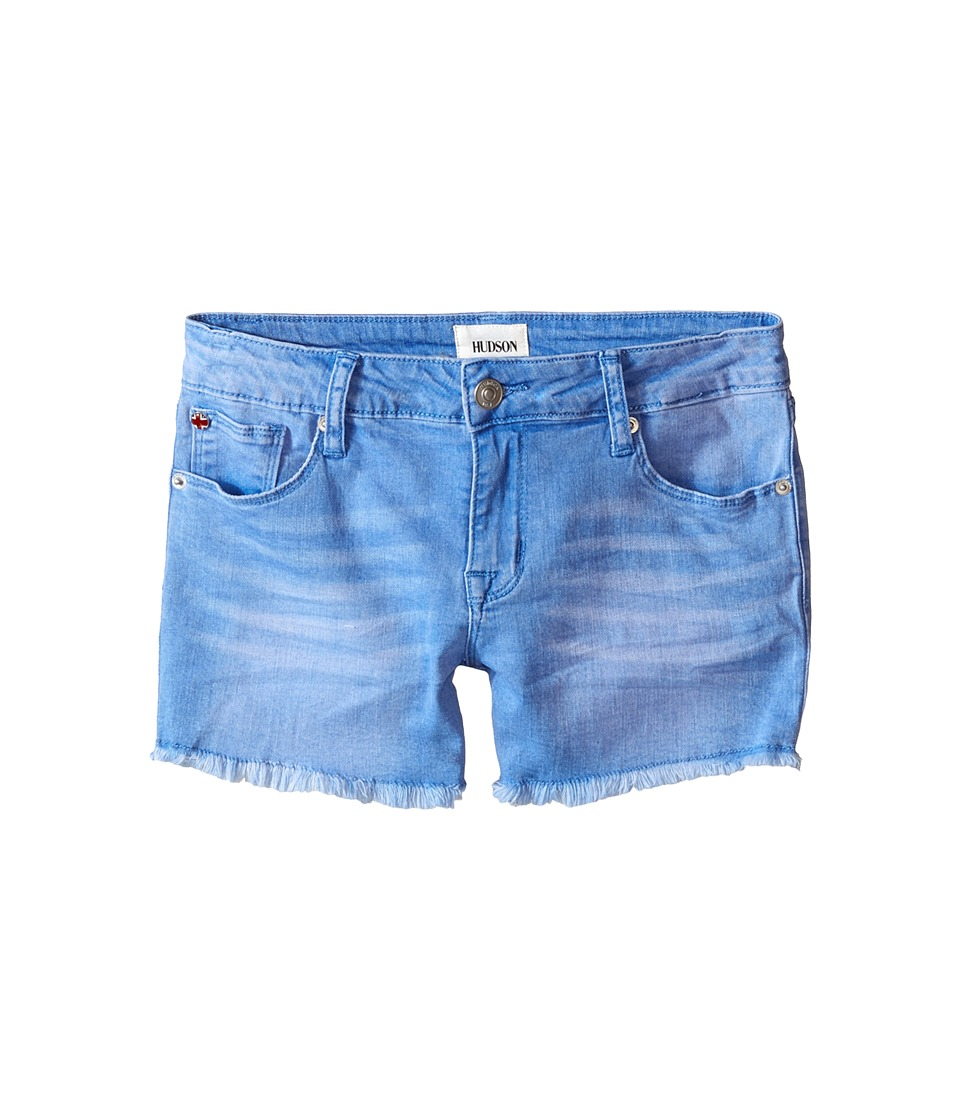 Hudson Kids 3 Fray Five Pocket Shorts in Ultramarine Big Kids Ultramarine Girls Shorts