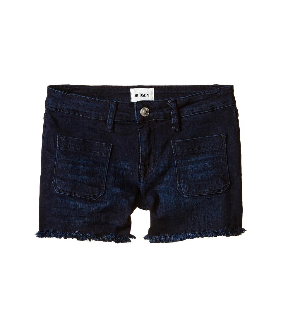 Hudson Kids 3 Fray Five Pocket Shorts in New Royal Big Kids New Royal Girls Shorts
