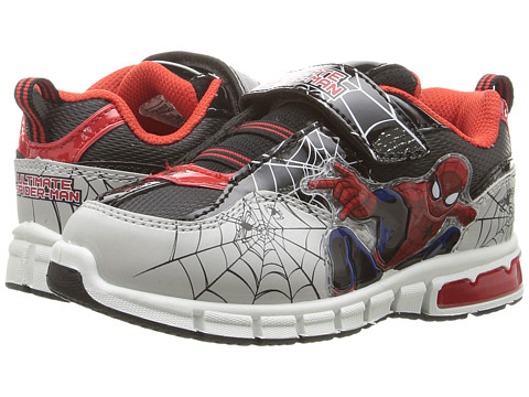 Favorite Characters Ultimate Spiderman Lighted SPF911 (Toddler/Little Kid) - Black/Red/Grey
