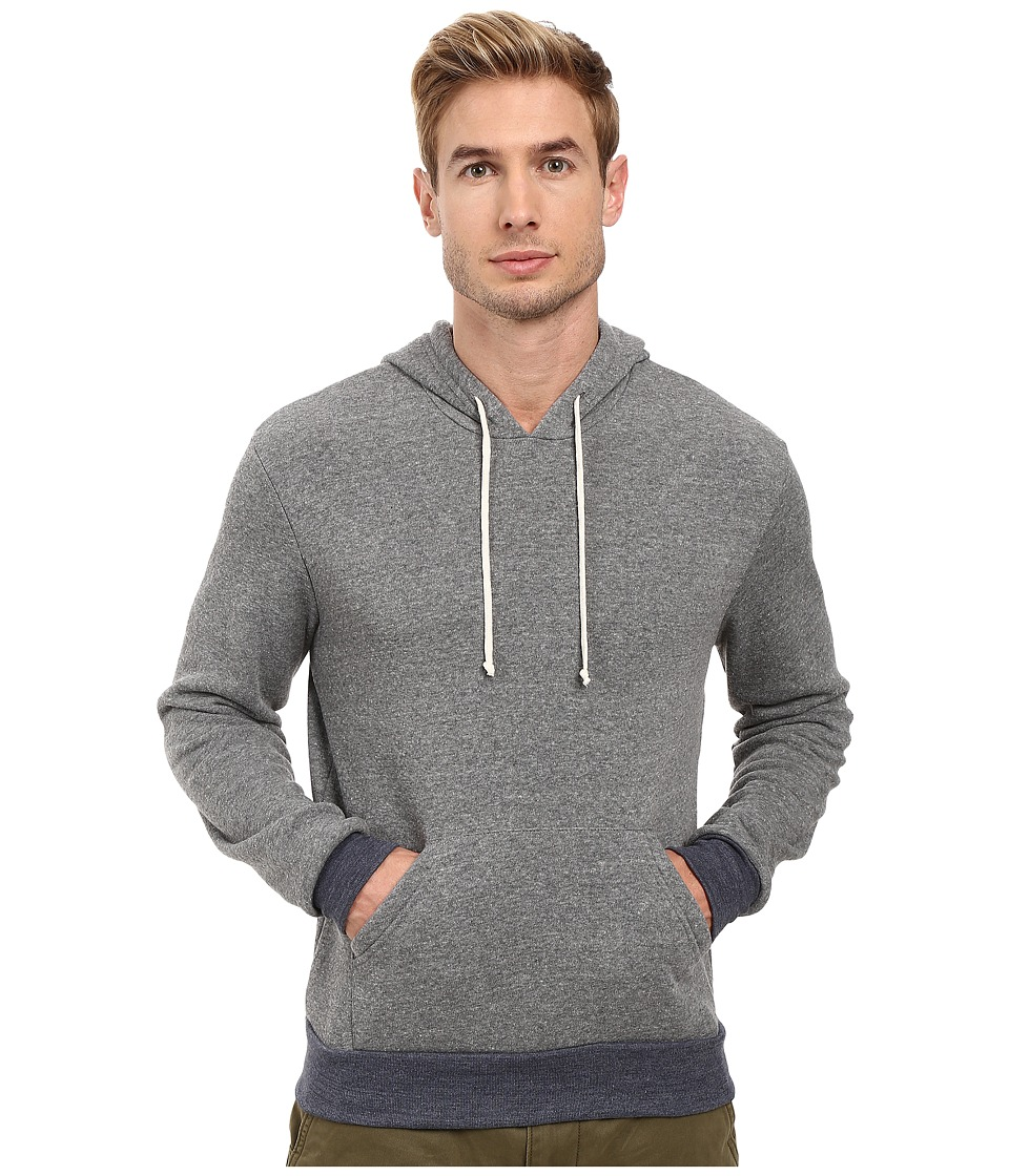 Alternative - Hoodlum Pullover Hoodie (Eco Grey/Eco True Navy) Mens Long Sleeve Pullover