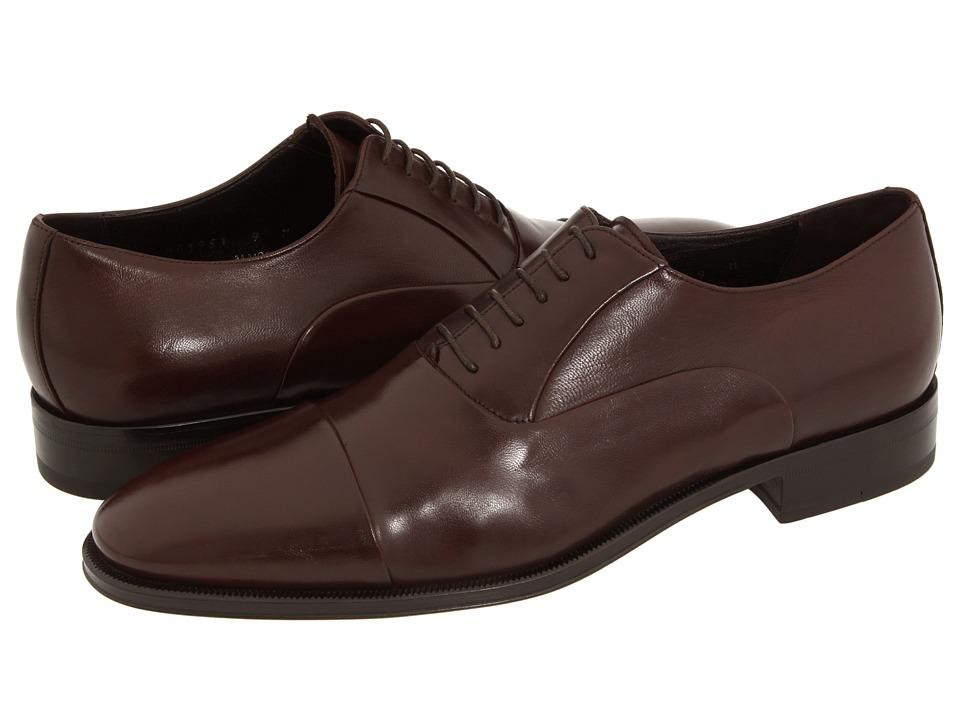 Bruno Magli Maioco Dark Brown Nappa Mens Lace Up Cap Toe Shoes