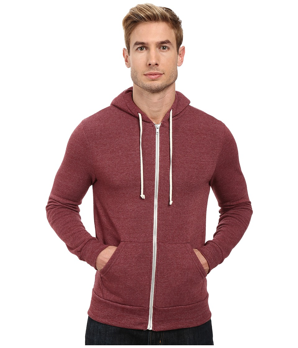 Alternative - Rocky Zip Hoodie (Eco True Currant) Mens Sweatshirt