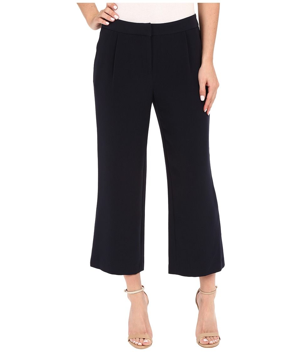 Ellen Tracy Wide Cropped Pants Navy Womens Casual Pants