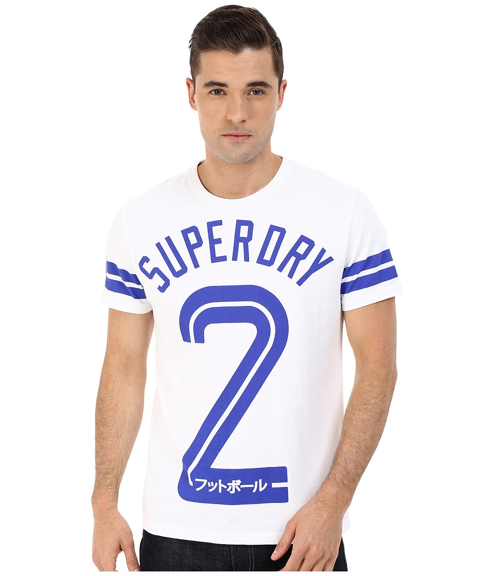Superdry Soccer Tee Optic Mens T Shirt