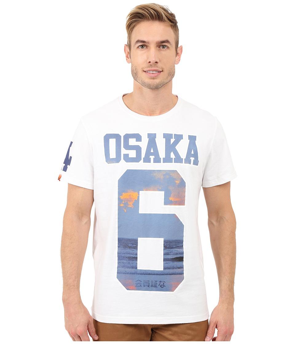 Superdry Osaka Aqua Tee Optic Mens T Shirt