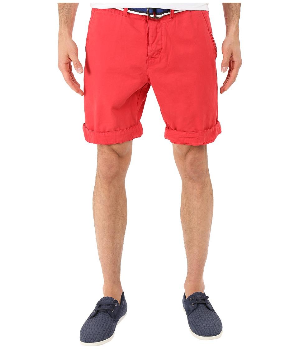Superdry International Chino Shorts Bright Red Mens Shorts