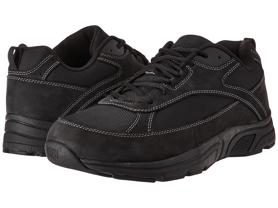 Drew - Aaron (Black Leather/Nylon) Mens Lace up casual Shoes