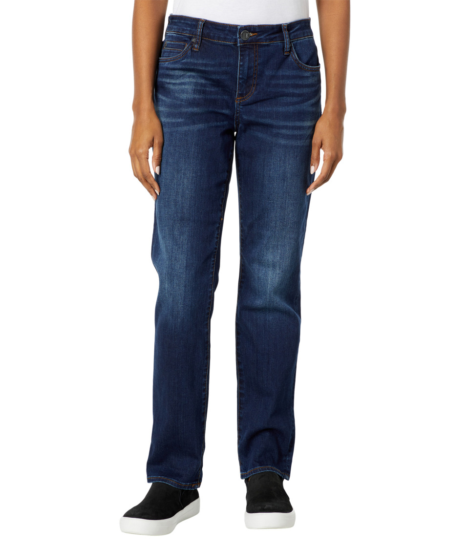 KUT from the Kloth Catherine Five-Pocket Boyfriend Jeans in Adaptability w/ Euro Base Wash (Adaptability/Euro Base Wash) Women