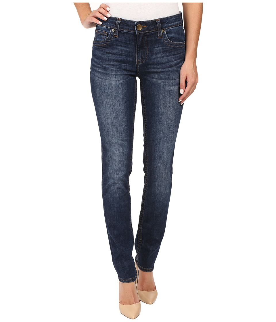 KUT from the Kloth Stevie Straight Leg Five-Pocket Jeans in Admiration w/ Dark Stone Base Wash (Admiration/Dark Stone Base Wash) Women
