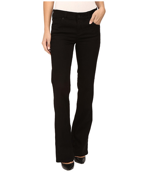 KUT from the Kloth Natalie High Rise Bootcut Jeans in Black - Black