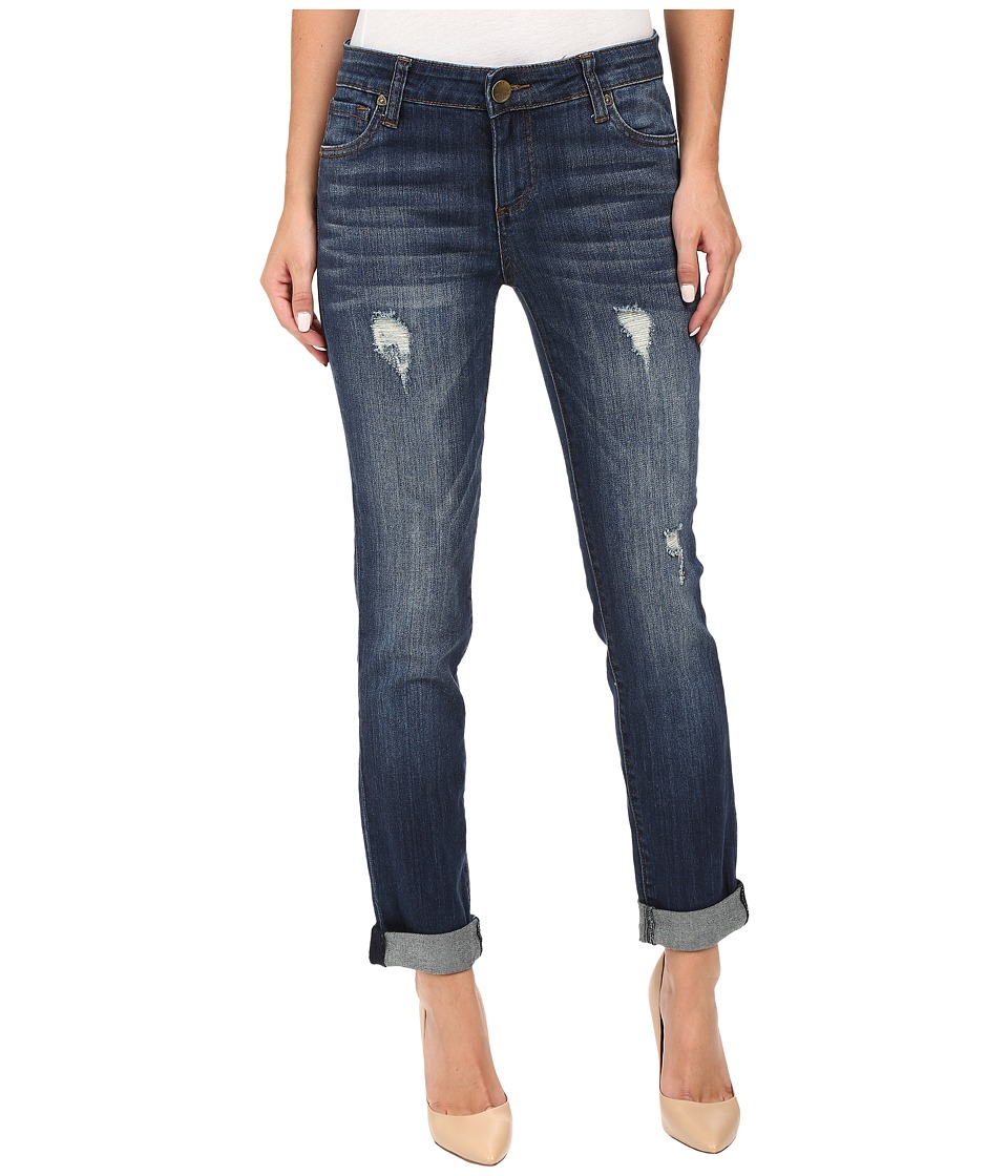 KUT from the Kloth - Catherine Boyfriend Jeans in Allowing w/ Dark Stone Base Wash (Allowing/Dark Stone Base Wash) Womens Jeans