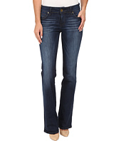 KUT from the Kloth - Natalie High Rise Bootcut Jeans in Adaptive w/ Dark Stone Base Wash