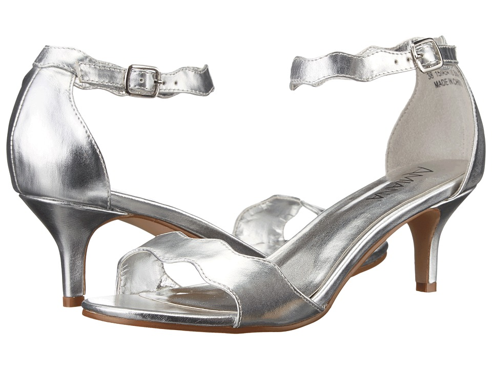 Amiana 15-A5416 (Little Kid/Big Kid/Adult) (Silver Metallic) Girl