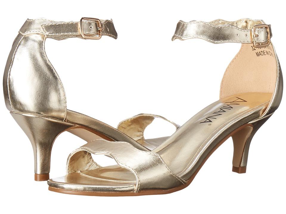 Image of Amiana - 15-A5416 (Little Kid/Big Kid/Adult) (Gold Metallic) Girl's Shoes