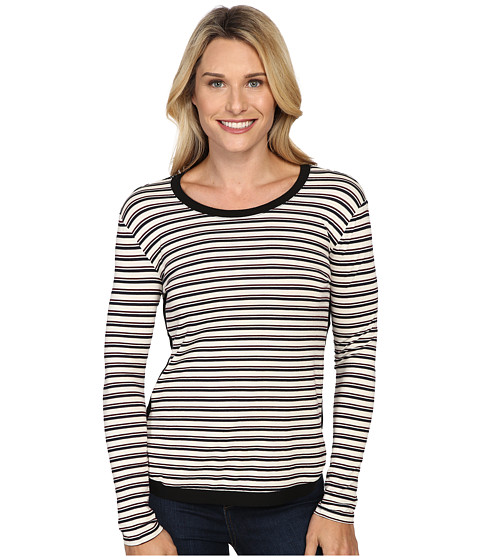 KUT from the Kloth - Marlie (Black/Cranberry) Women's Long Sleeve Pullover