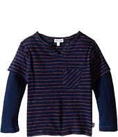 Splendid Littles - Indigo Twofer Crew with Raw Edge Neck (Toddler)