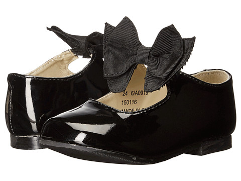 Amiana 6-A0919 (Toddler/Little Kid) - Black Patent PU