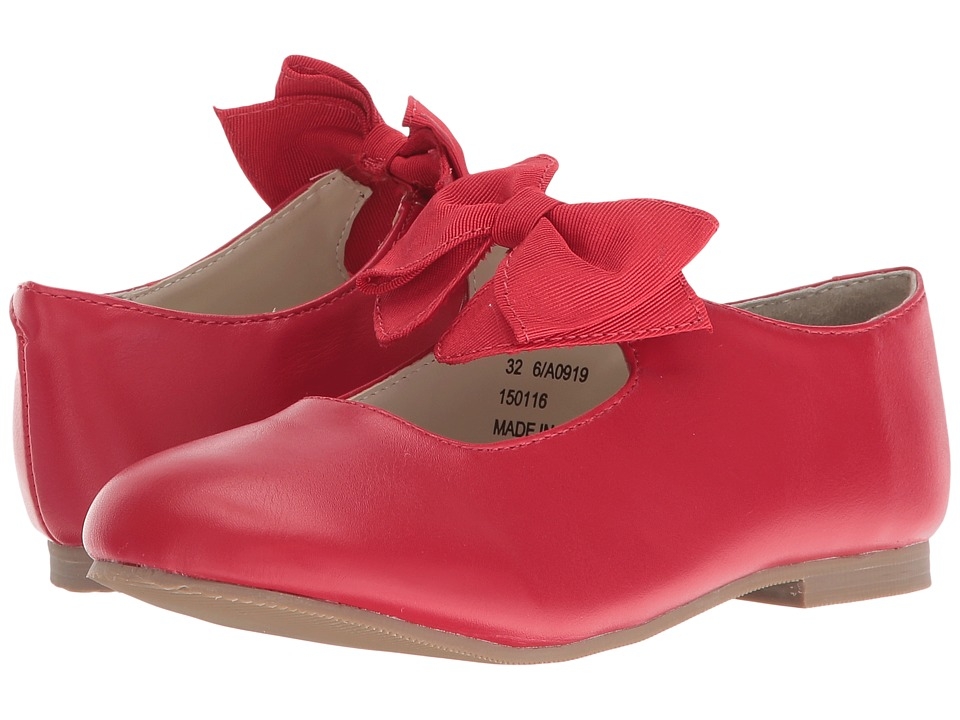Amiana 6-A0919 (Toddler/Little Kid) (Red PU) Girl's Shoes